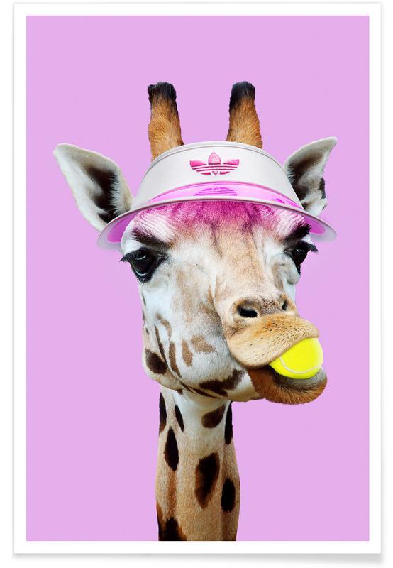 Tennis, Giraffer, Humor, Tennis Giraffe Plakat