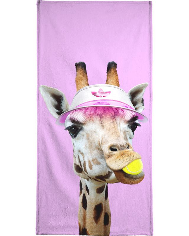 Tennis Giraffe Beach Towel