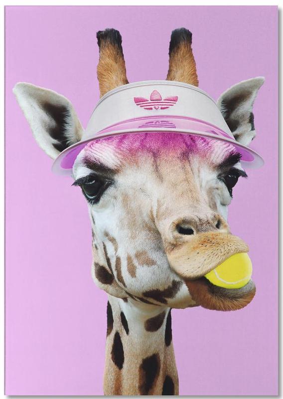 Tennis Giraffe -Notizblock