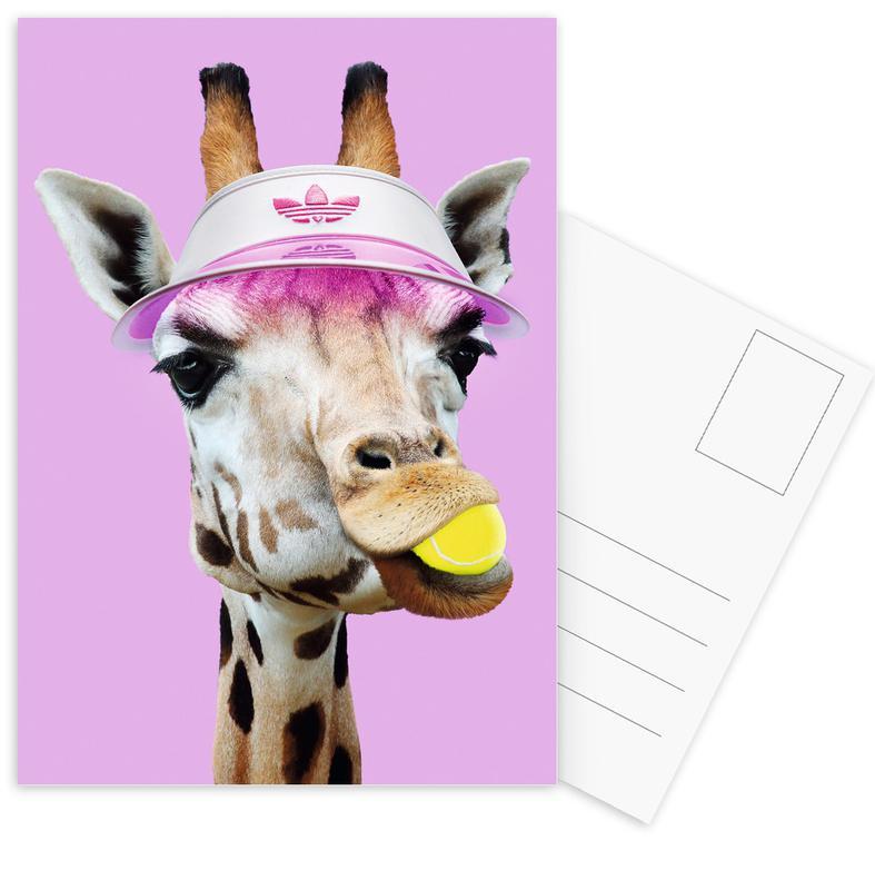 Tennis Giraffe Postcard Set