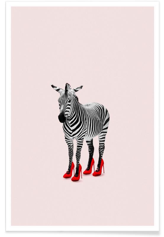 Grappig, Zebra's, Zebra Heels poster