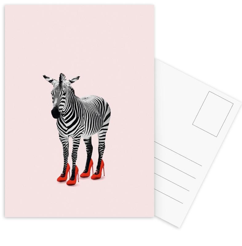 Lustig, Zebras, Zebra Heels -Postkartenset