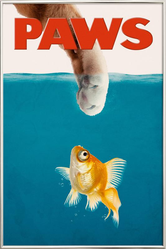 Paws Poster in Aluminium Frame