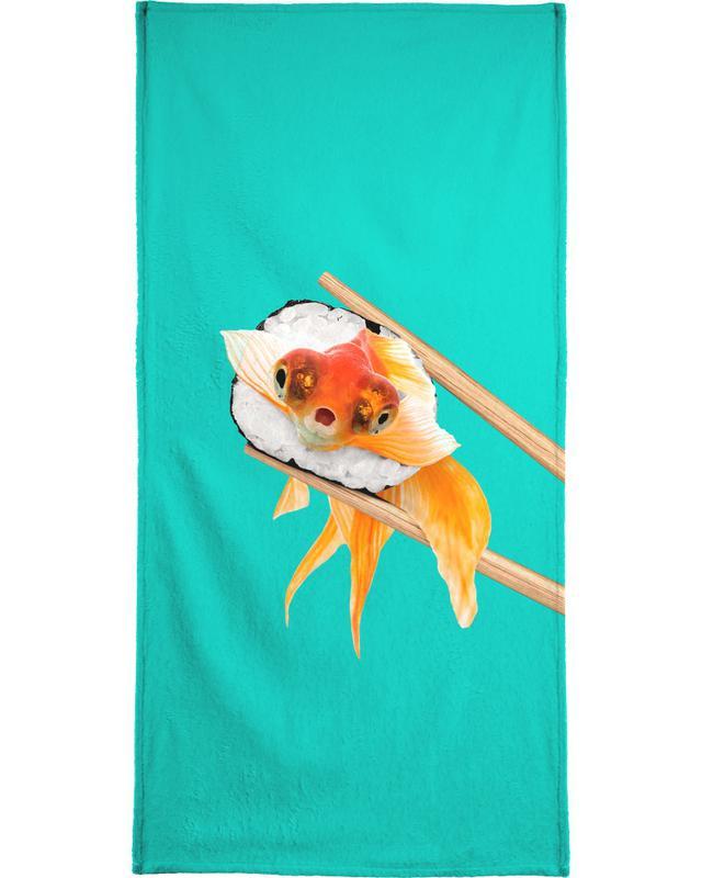 Sushi Goldfish Beach Towel