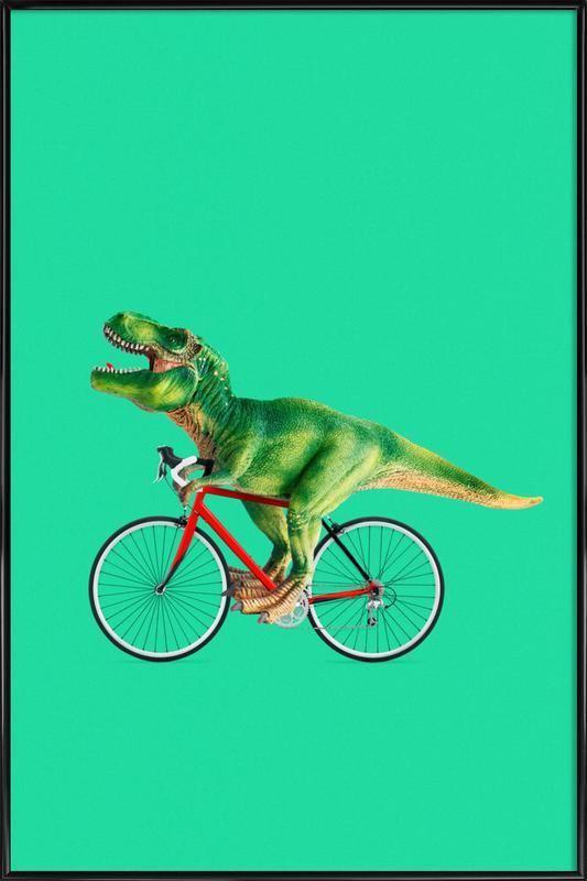 T-Rex Bike ingelijste poster