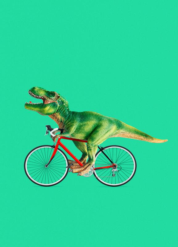 T-Rex Bike Canvastavla