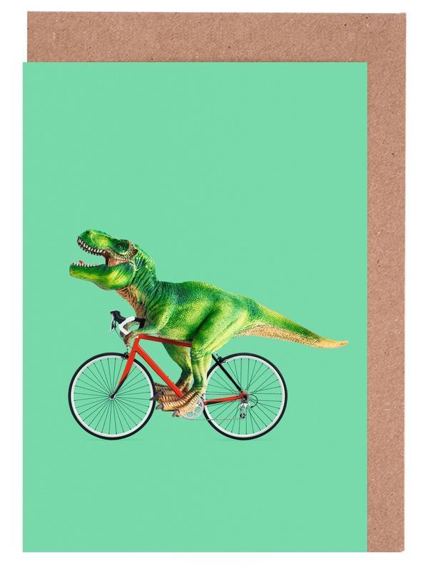 T-Rex Bike -Grußkarten-Set