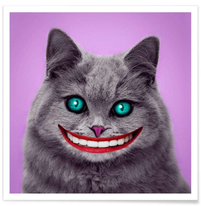 Humour, Chats, Félicitations, Cheshire Cat affiche