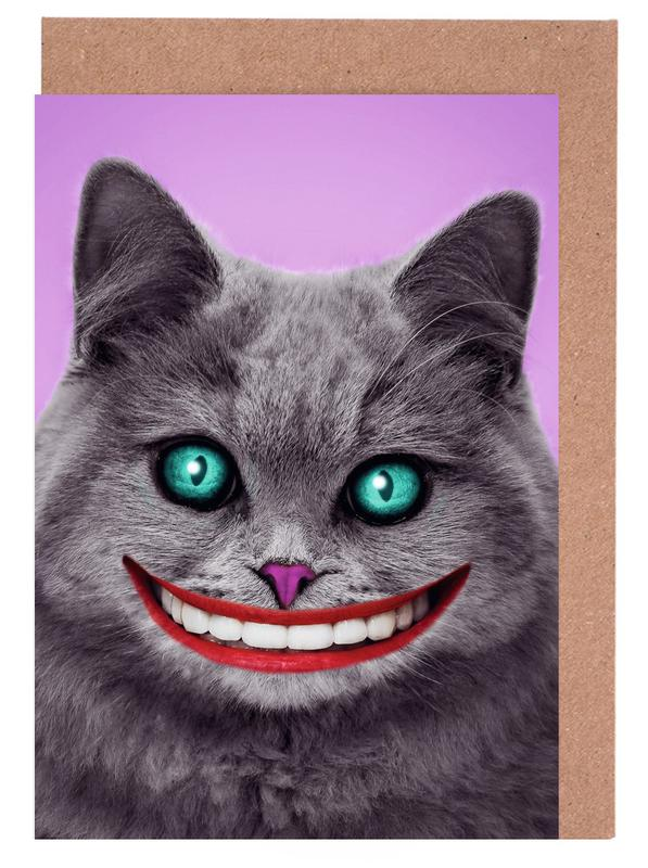 Cheshire Cat Greeting Card Set