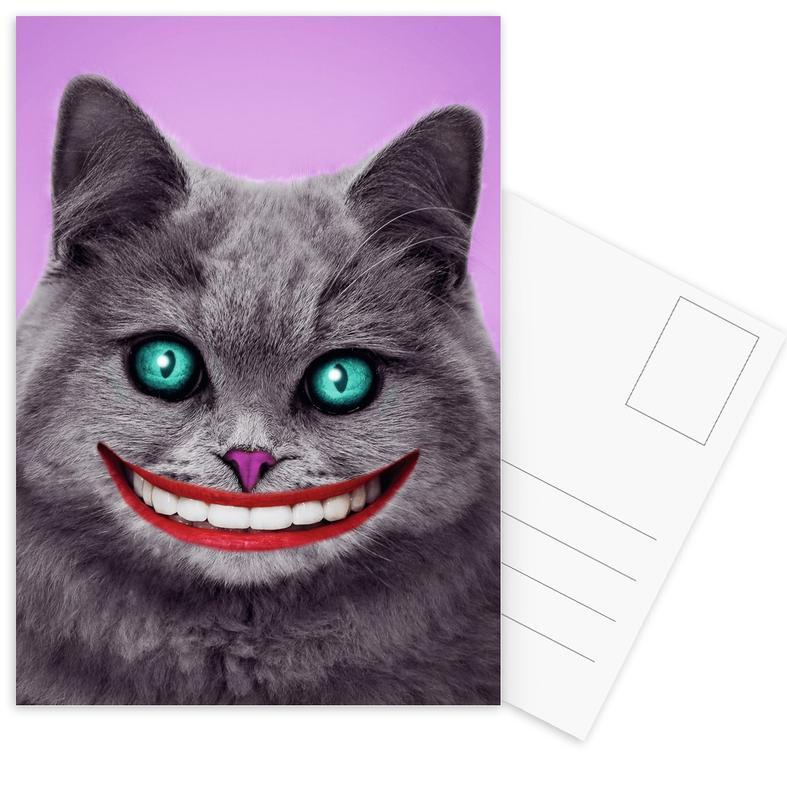 Cheshire Cat -Postkartenset