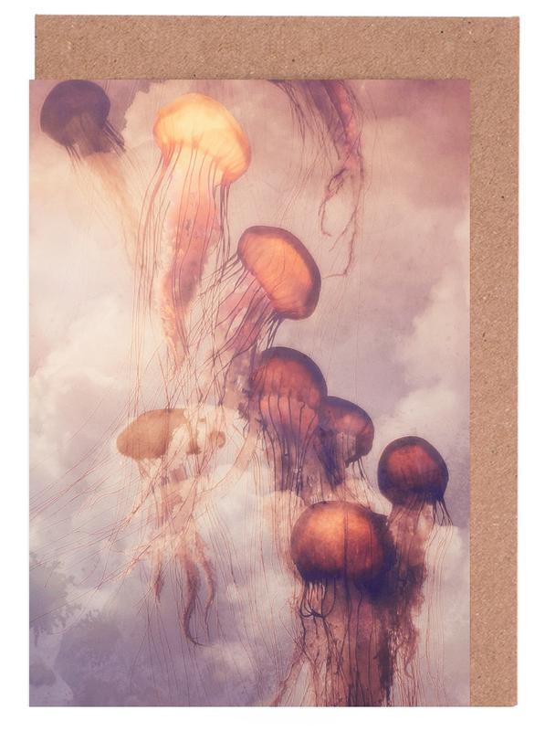 Jellyfish Sky -Grußkarten-Set