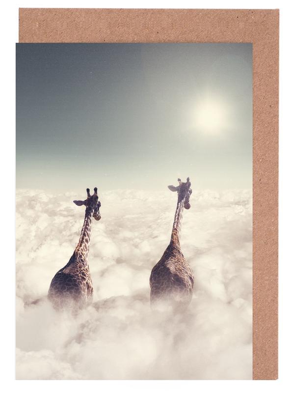 Giant Giraffes -Grußkarten-Set