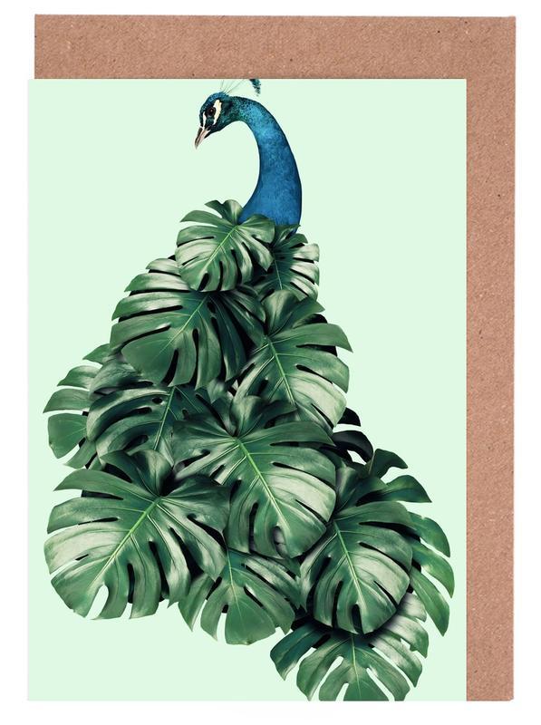 Monstera Bird -Grußkarten-Set