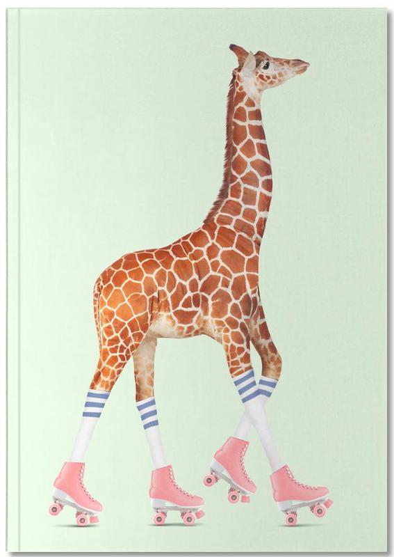 Rollerskating Giraffe Notebook