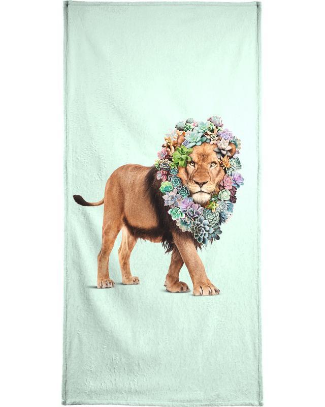 Succulent Lion Beach Towel
