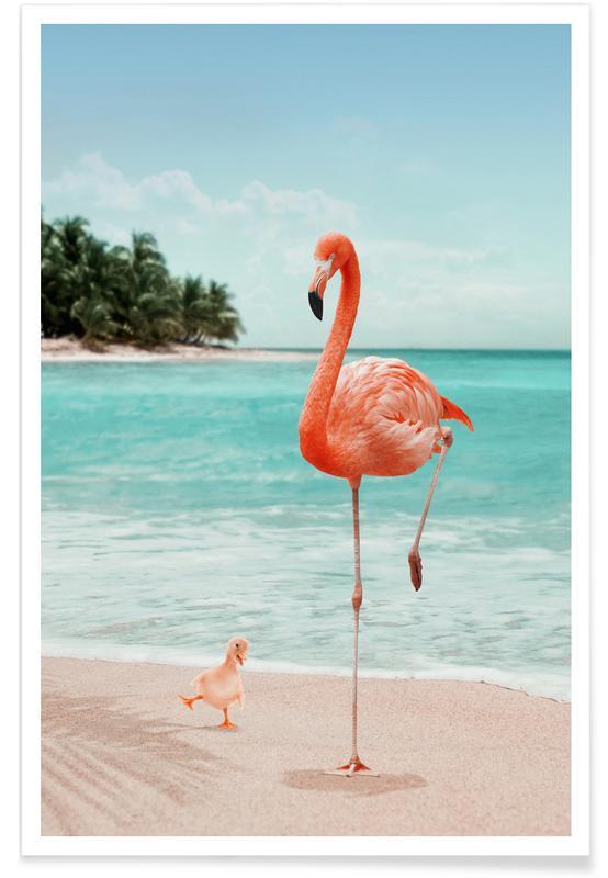 Wannabe Flamingo Poster