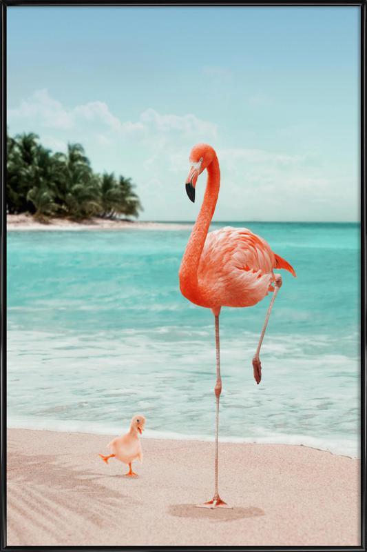 Wannabe Flamingo affiche encadrée