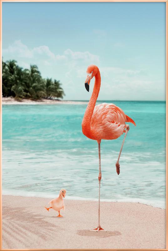 Wannabe Flamingo affiche sous cadre en aluminium