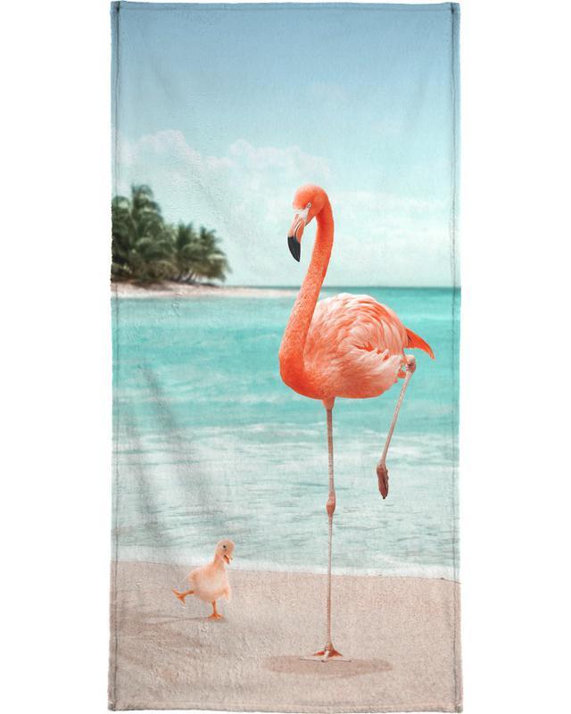 Wannabe Flamingo Bath Towel