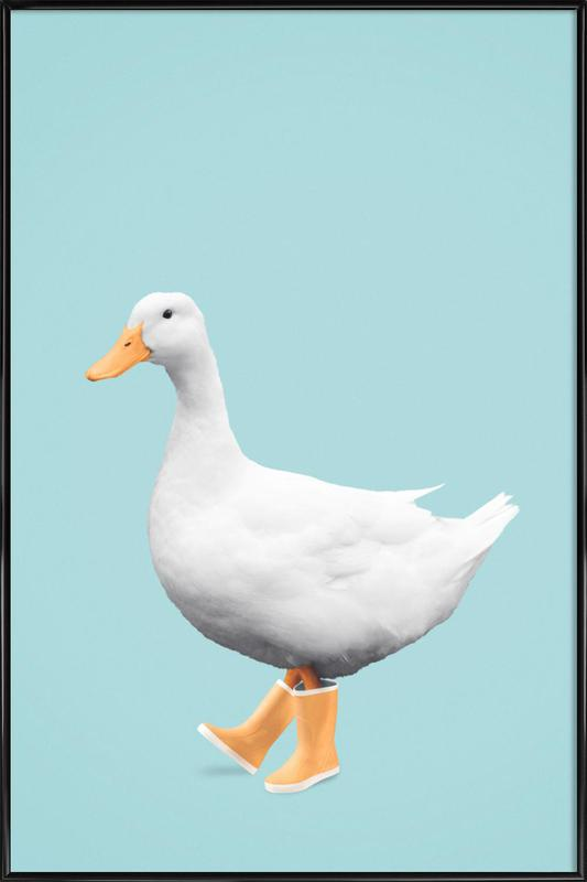 Duck Boots Framed Poster