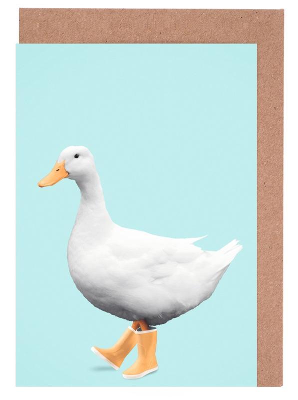 Art pour enfants, Canards, Humour, Duck Boots cartes de vœux