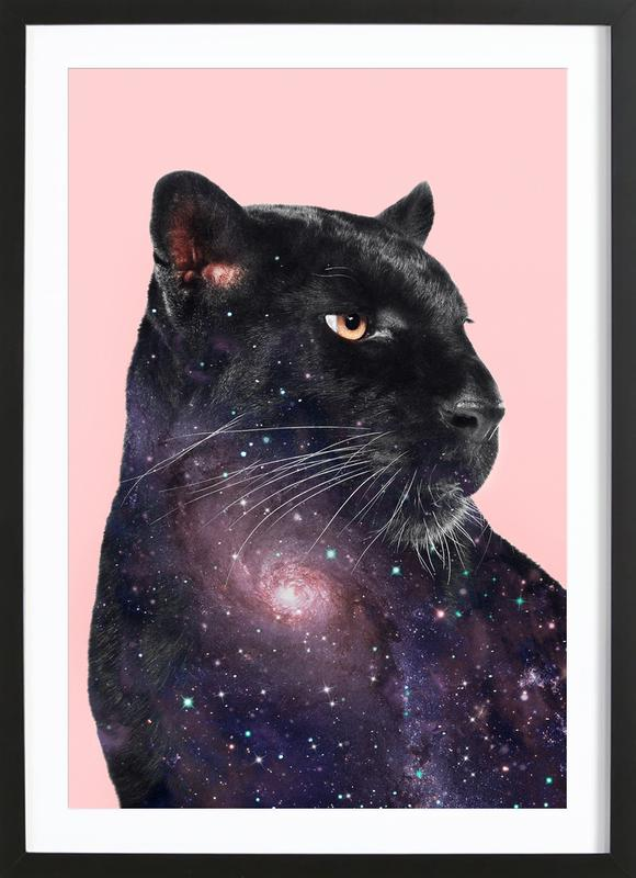 Galaxy Panther ingelijste print