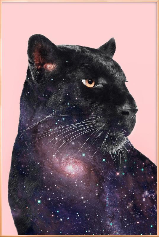 Galaxy Panther -Poster im Alurahmen