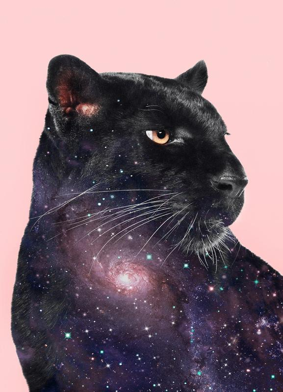 Galaxy Panther canvas doek