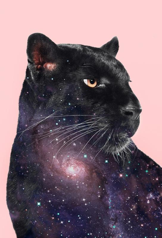Galaxy Panther Aluminium Print