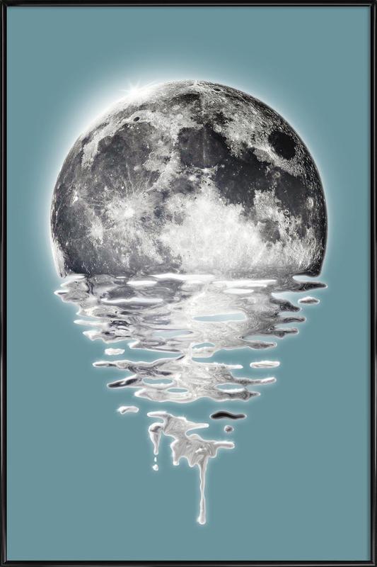 Melting Moon ingelijste poster