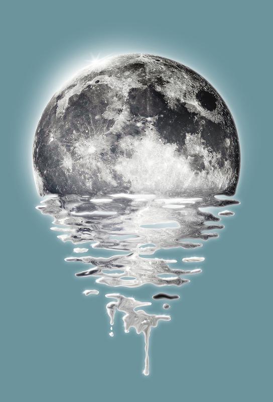 Melting Moon -Acrylglasbild