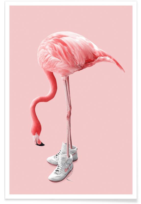 Flamingoer, Humor, Sneaker Flamingo Plakat