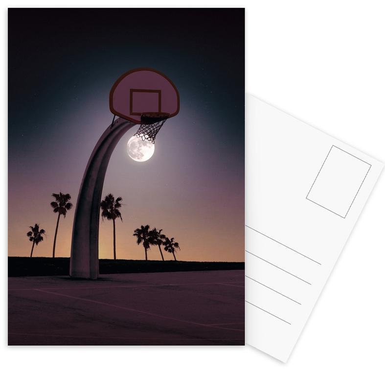 Basketbal, Basketmoon ansichtkaartenset