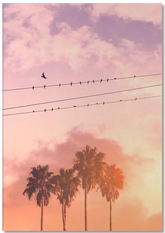 Palmen, Sonnenuntergänge, Birds on a Wire -Notizblock