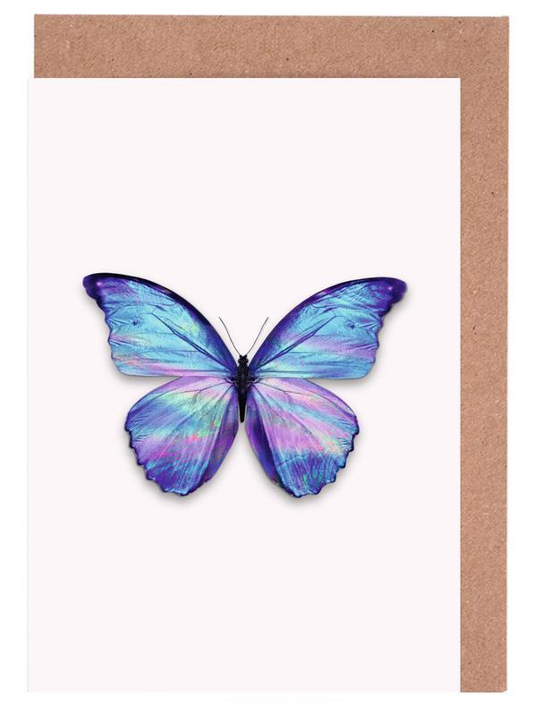 Holographic Butterfly -Grußkarten-Set