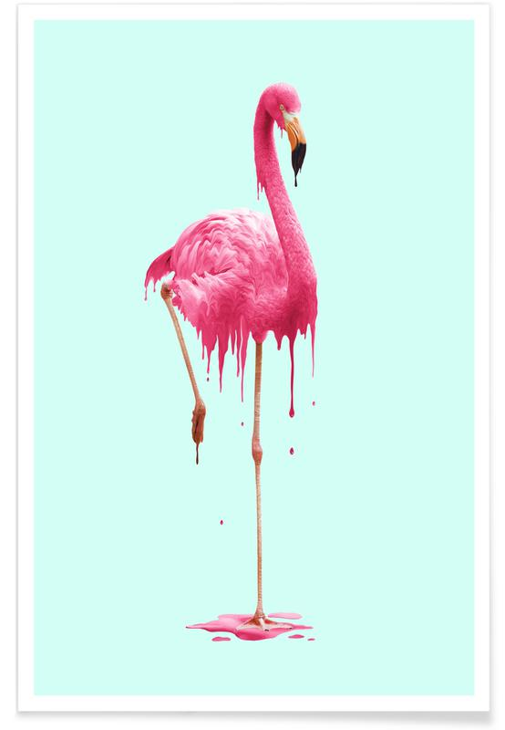 Flamingos, Melting Flamingo Poster