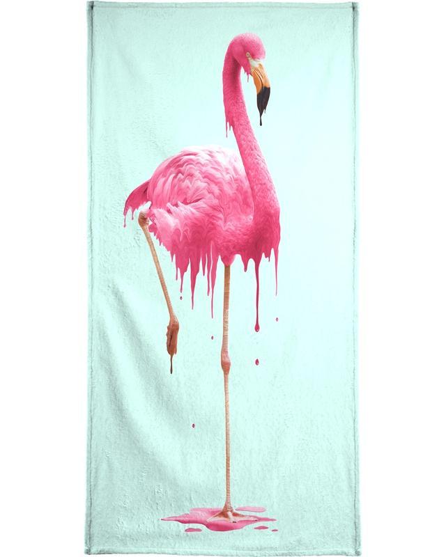 Melting Flamingo Bath Towel