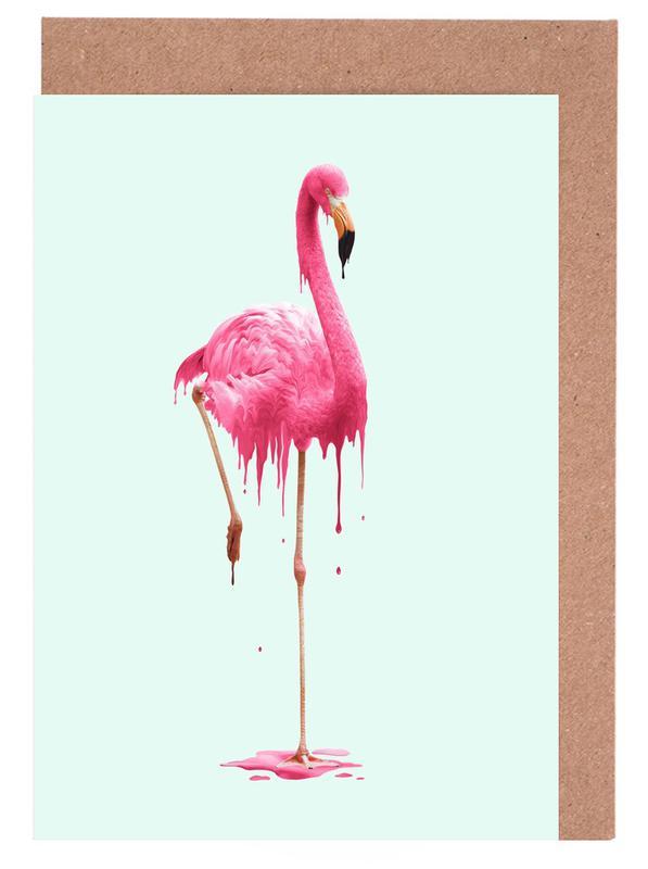 Melting Flamingo -Grußkarten-Set