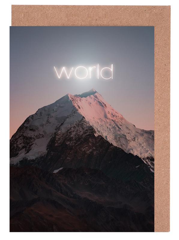 World -Grußkarten-Set