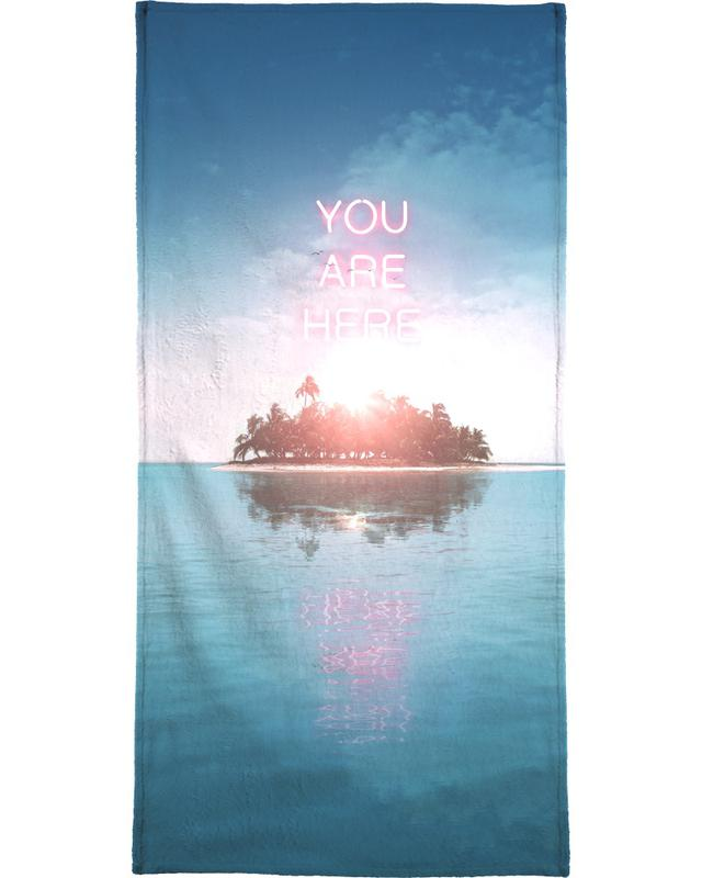 You Are Here Beach Towel