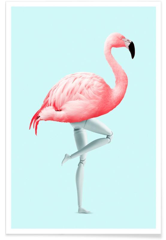 Flamingos, Fantasie- & Mischwesen, Lustig, Flamingo Mannequin -Poster