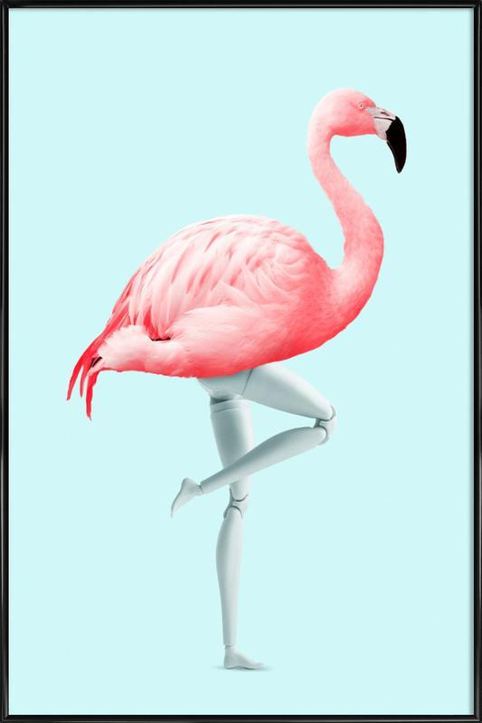 Flamingo Mannequin affiche encadrée