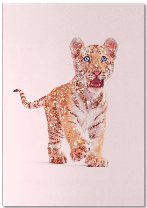 Glitter Tiger -Notizblock