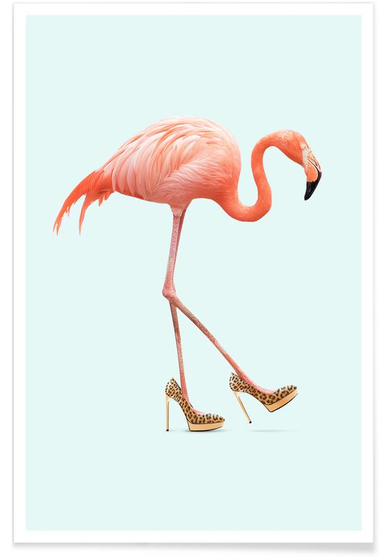 Fancy Flamingo -Poster