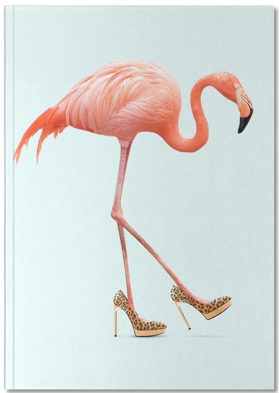 Lustig, Kinderzimmer & Kunst für Kinder, Flamingos, Fancy Flamingo Notebook