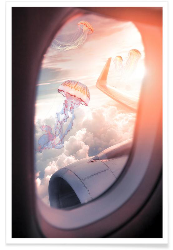 Jellyfish Plane Poster
