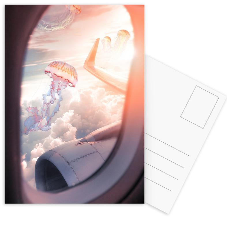 Jellyfish Plane -Postkartenset