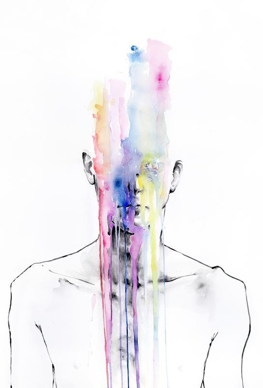 All My Art Is on You acrylglas print