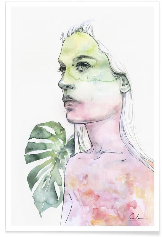 Dreamy, Portraits, Viridescent Poster