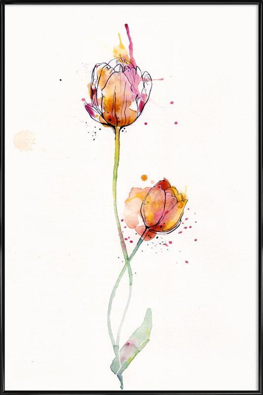 Tulip -Bild mit Kunststoffrahmen